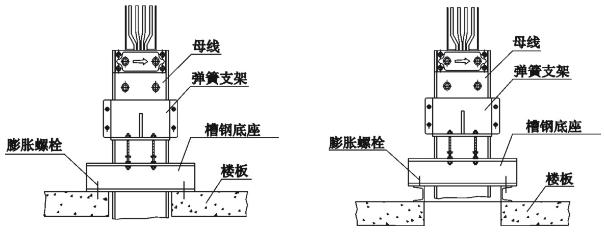 母线系统中弹簧支架正面安装的两种型式.png